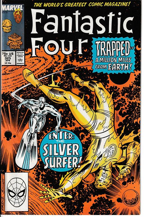 FANTASTIC FOUR 325 Apr 89 Guest Stars Mantis & Silver Surfer