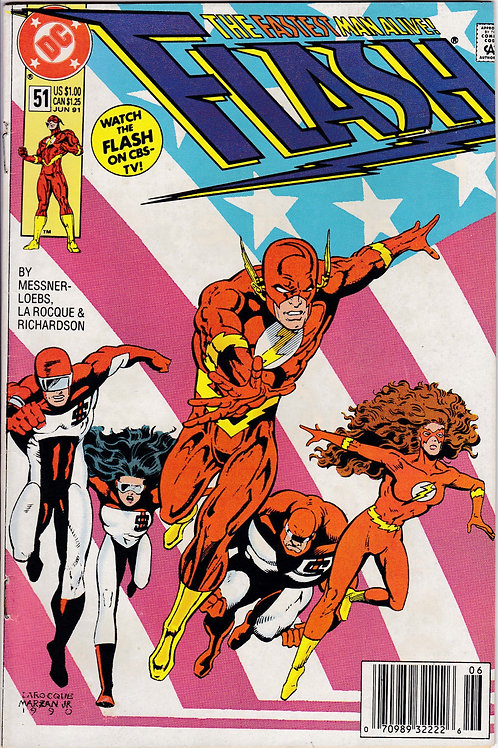 FLASH 51 1987 2nd Series DC VF Flash Lady Flash & Pied Piper Hostage Crisis
