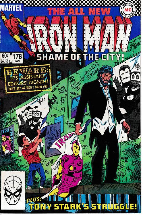 IRON MAN 178 Jan 84 Once an Avenger