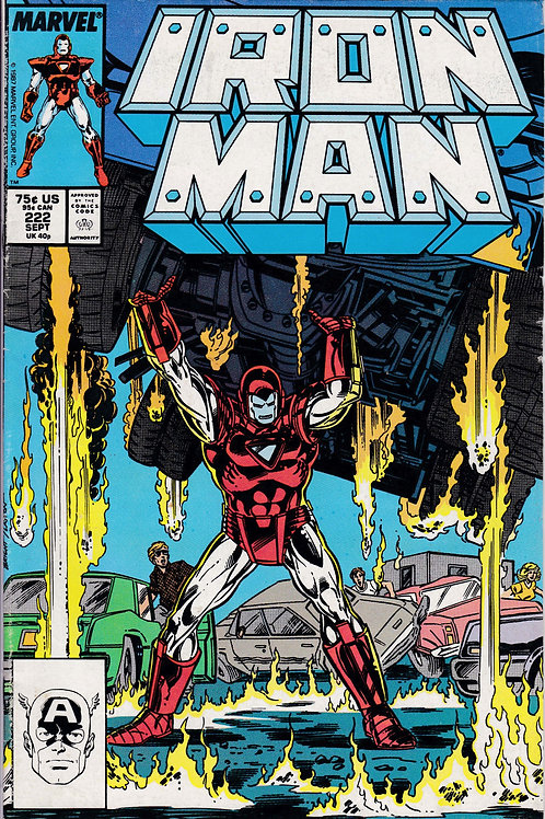 IRON MAN 222 Sept 87 Spymaster & Ghost Appearance