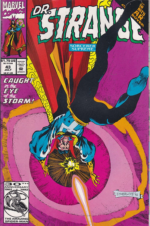 DOCTOR STRANGE SORCERER SUPREME 43 Marvel Jul 92 Infinity War X-Over