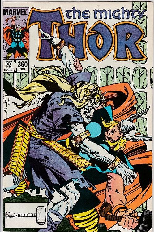 THOR  360 Oct 85 Marvel Comics N/M  Walt Simonson Art & Story