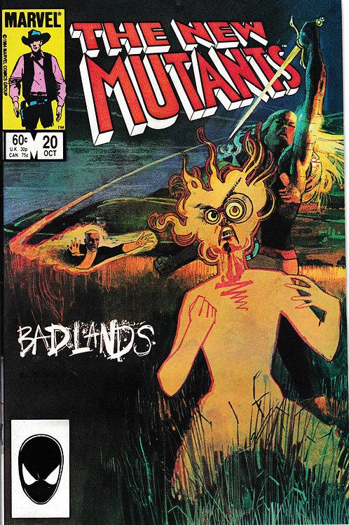 NEW MUTANTS 20 Marvel Oct 84  Sienkiewicz cover art