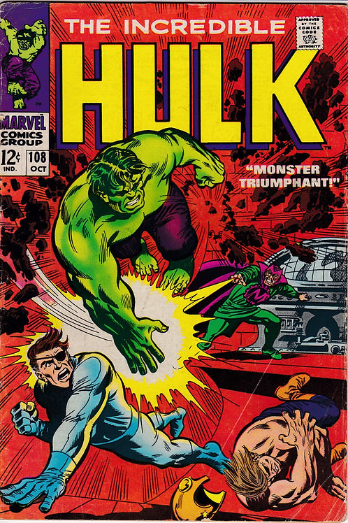Incredible Hulk 108 Nick Fury & SHIELD Appearance