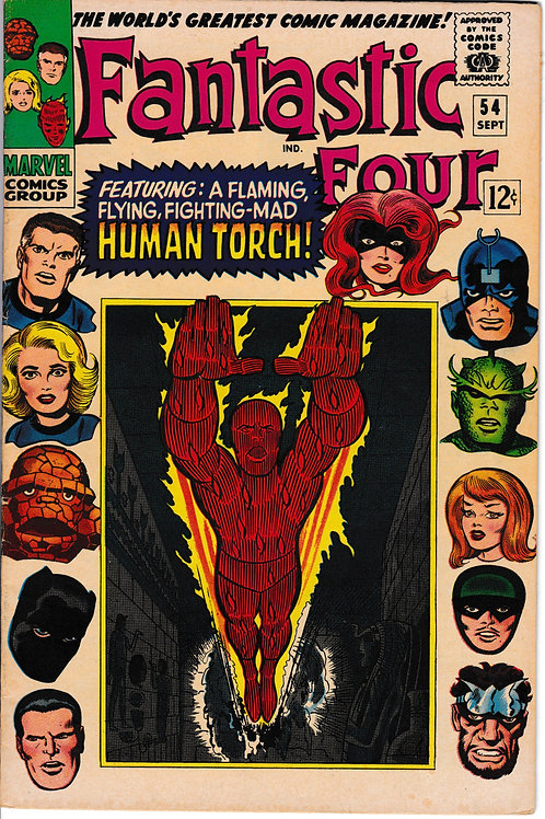 FANTASTIC FOUR 54 Sept 66 Marvel Vol 1 Inhumans Cameo