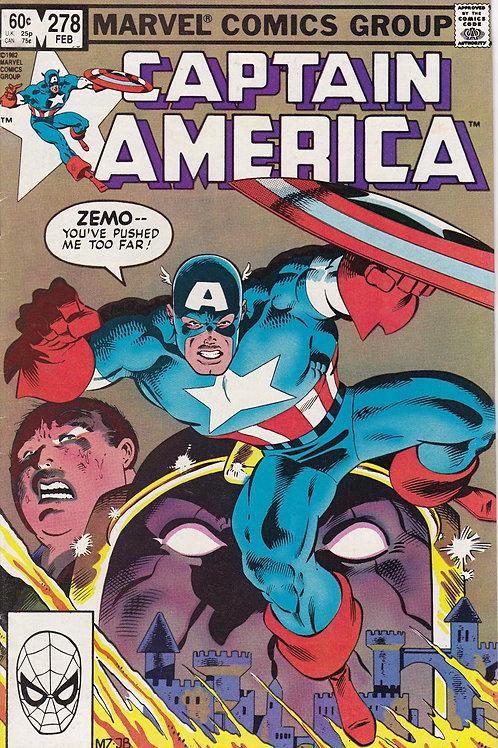 Captain America 278 Captain Vs Baron Zemo