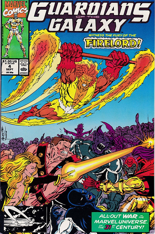 GUARDIANS OF THE GALAXY 4 Marvel Vol 1 Sept 90  Firelord App