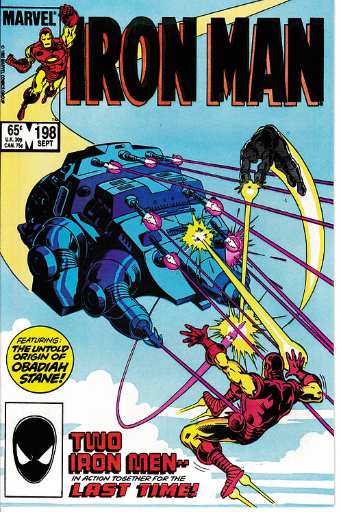 IRON MAN 198 Sept 85 Tony Stark returns as Iron Man