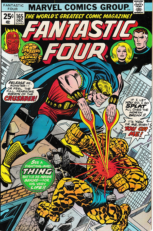 FANTASTIC FOUR 165 Dec 75 Marvel Vol 1 1st Appearance Frankie Ray