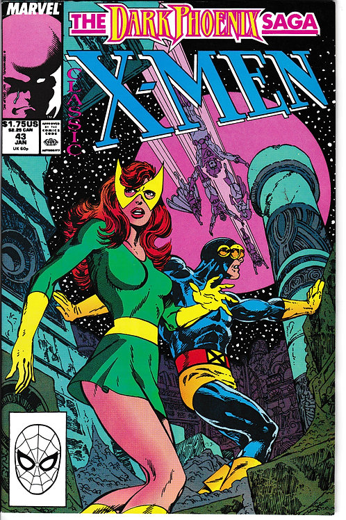 Classic X-Men 43 Jan 90 Chris Claremont John Byrne Double Sized