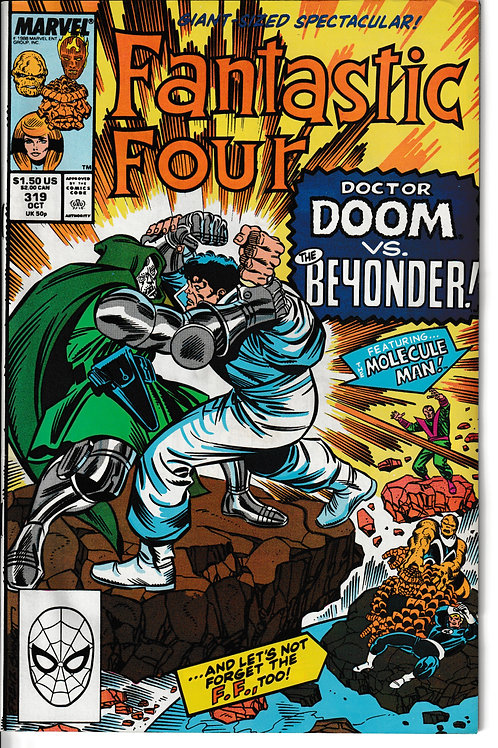 FANTASTIC FOUR 319 Oct 88 New Old Stock Never Read Dr Doom Secret Wars 111