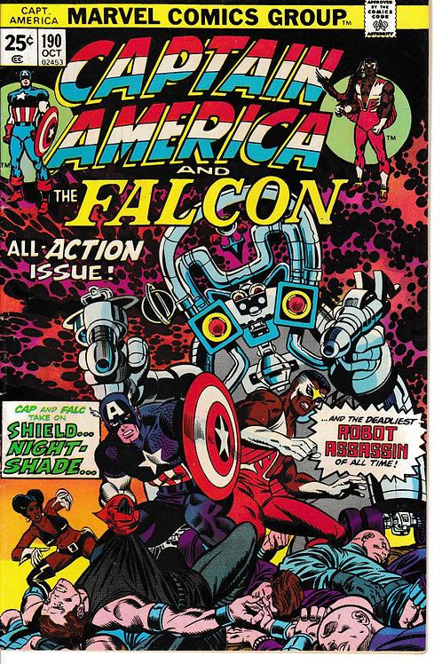 CAPTAIN AMERICA 190 Oct 75 Captain Verses Nightshade