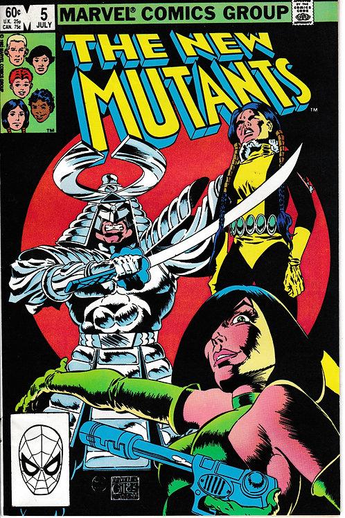 NEW MUTANTS 5 Marvel Jul 83 Viper & Silver Samurai