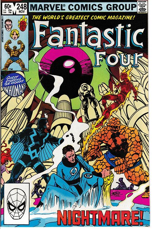 FANTASTIC FOUR 248 Nov 82 John Byrne Black Bolt & The Inhumans Appearance