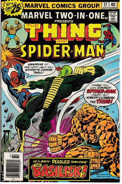 MARVEL TWO-IN-ONE 17 Jul 76 The Thing & Spider-Man