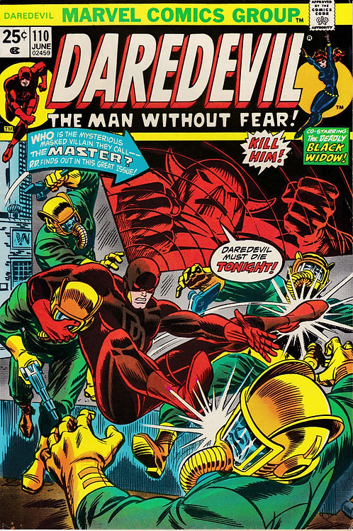 DAREDEVIL 110 Jun 74 Verses the Mandrill Nekra & Black Spectre