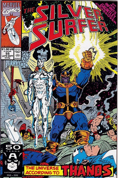 Silver Surfer 55 Infinity Gauntlet X-Over