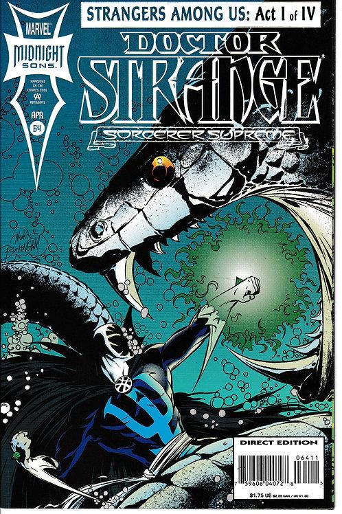 DOCTOR STRANGE SORCERER SUPREME 64 Marvel Jan 94 Strangers Among Us Act 1