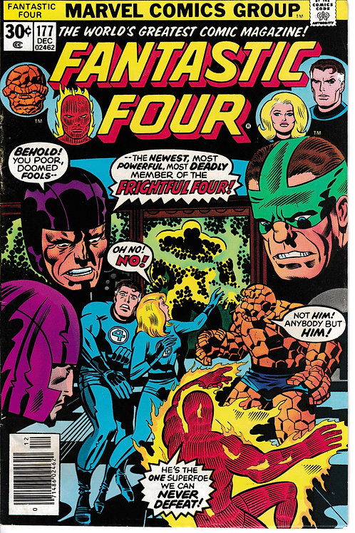 FANTASTIC FOUR 177 Dec 76 Marvel Vol 1 Ist App Texas Twister & Capt Ultra