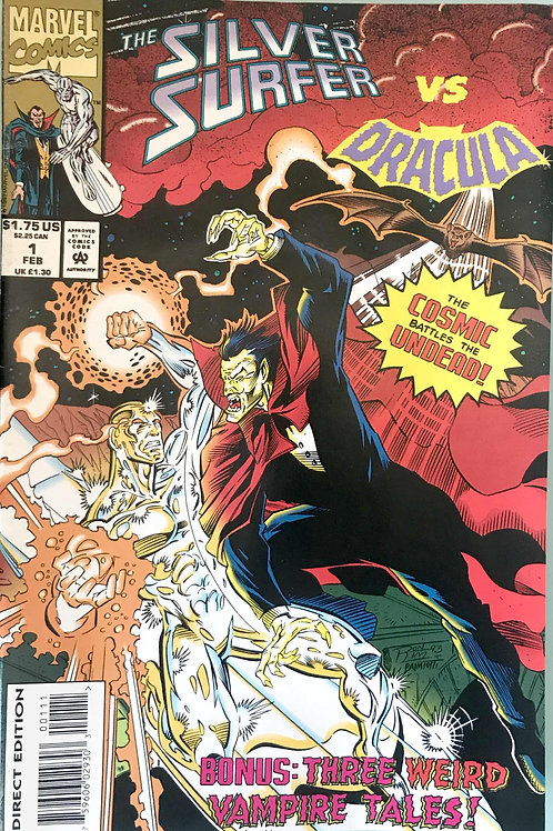 SILVER SURFER VS DRACULA  Feb 94 N/M Never Read New Old Stock