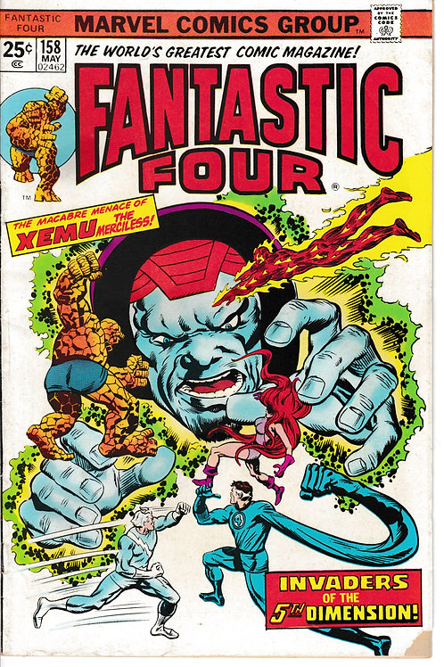 FANTASTIC FOUR 158 May 75 Marvel Vol 1 Verses Xemu