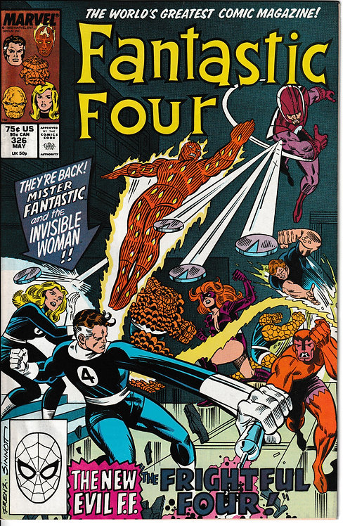 FANTASTIC FOUR 326 May 89 VS New Frightful Four