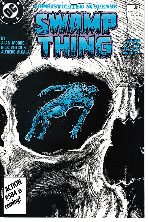 SWAMP THING 56 DC Jan 87 Moore Veitch Alcala Bissette
