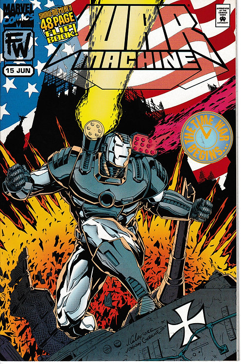 WAR MACHINE 15 Marvel Jun 95 Flip BK Nick Fury Captain America & Bucky Guest
