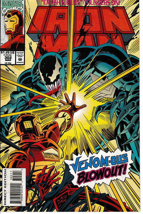 IRON MAN 302 Mar 94 Venom Cameo Guest-starring Deathlok