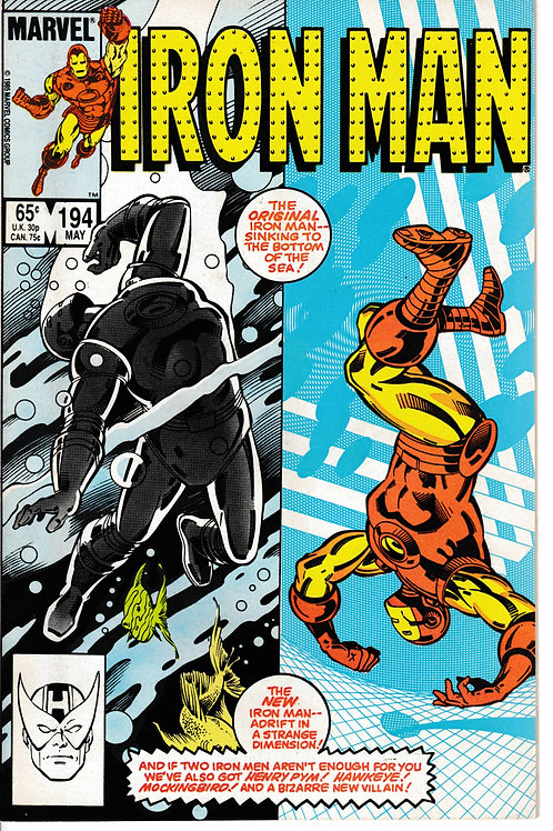 IRON MAN 194 May 85 Guest Stars Hawkeye