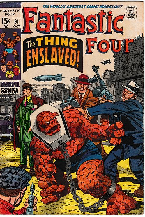 FANTASTIC FOUR 91 Oct 69 Marvel Vol 1 1st App Kree & Torgo