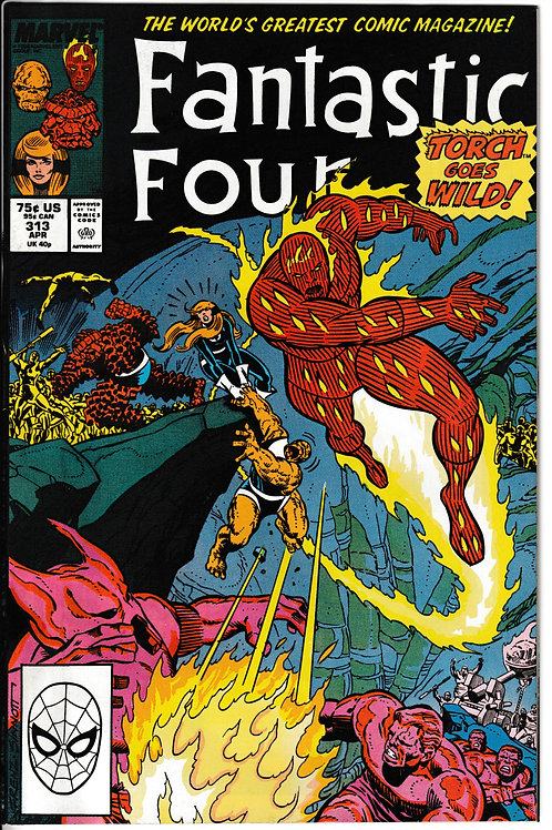 FANTASTIC FOUR 313 Apr 88 New Old Stock Never Read Mole Man Appearance