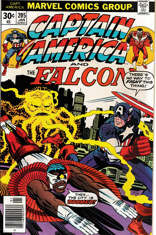 CAPTAIN AMERICA 205 Jan 77 Pencils Jack Kirby Argon Walks the Earth
