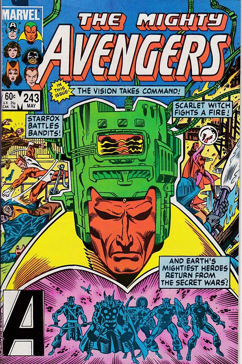 AVENGERS 243 Marvel Vol 1 May 84 Vision takes control
