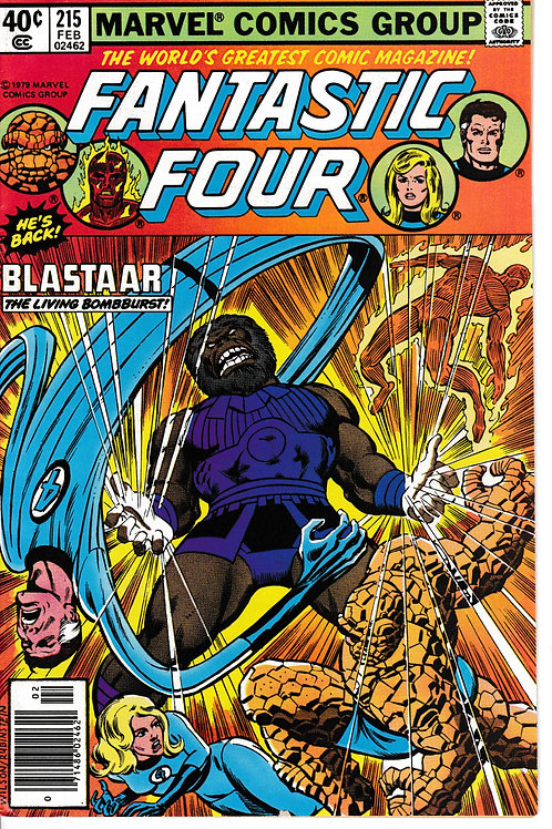 FANTASTIC FOUR 215 Sept 80 Blastaar Appearance John Byrne Script
