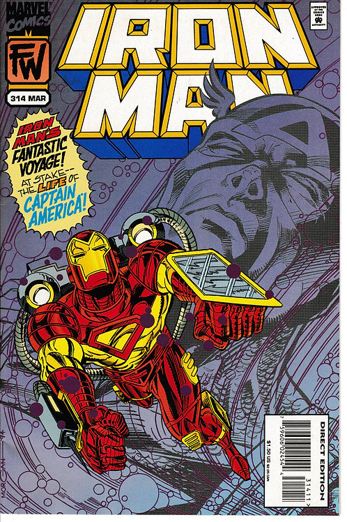 IRON MAN 314 Mar 95 Guest Stars Captain America