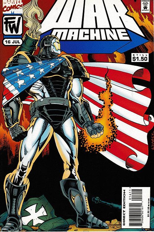 WAR MACHINE 16 Marvel Jul 95 Captain America & Bucky Guest Star