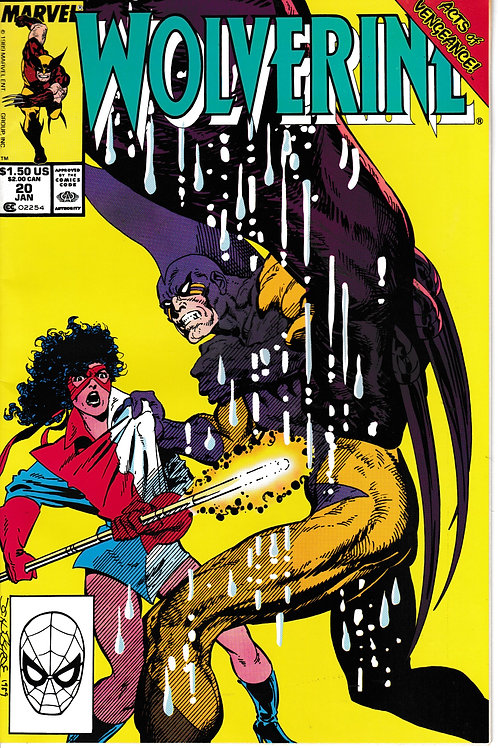 WOLVERINE 20 Marvel Jan 90 Acts of Vengeance Part 4 of 7