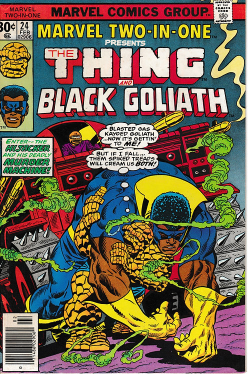 MARVEL TWO-IN-ONE 24 THE THING & Blck Goliath