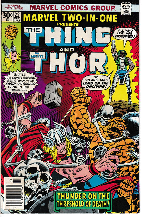 MARVEL TWO-IN-ONE 22 Dec 76 The Thing & Thor Guest Stars Human Torch