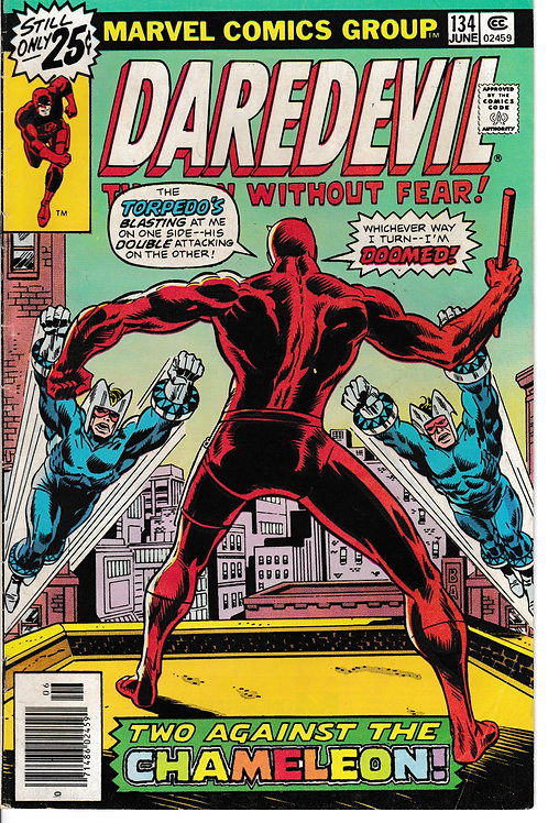 DAREDEVIL 134 Jun 76 Torpedo Appearance Vs The Chameleon