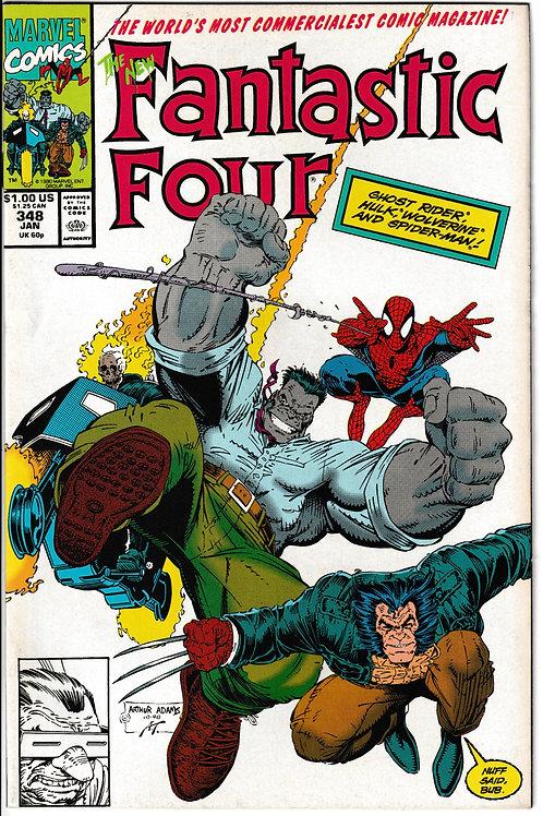 FANTASTIC FOUR 348 Jan 91 Guest-stars Spider-Man Wolverine