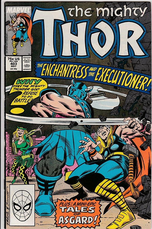 THOR 403 May 89 Thor battles Quicksand