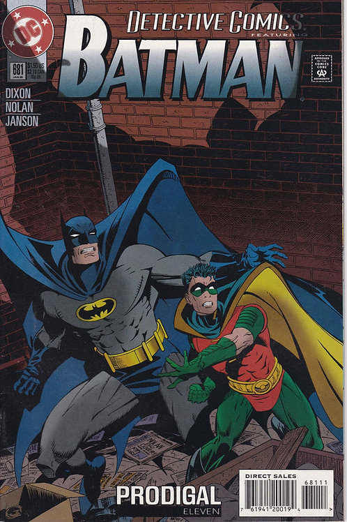 DETECTIVE 681 DC Jan 95 Never Read New Old Stock Prodigal part 11