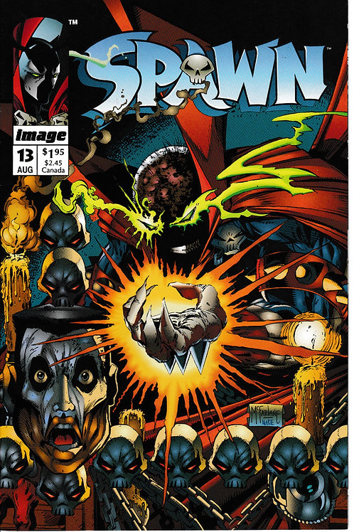 SPAWN 13 Image Aug 93 Todd McFarlane Art Guest-starring Chapel. Youngblood cameo