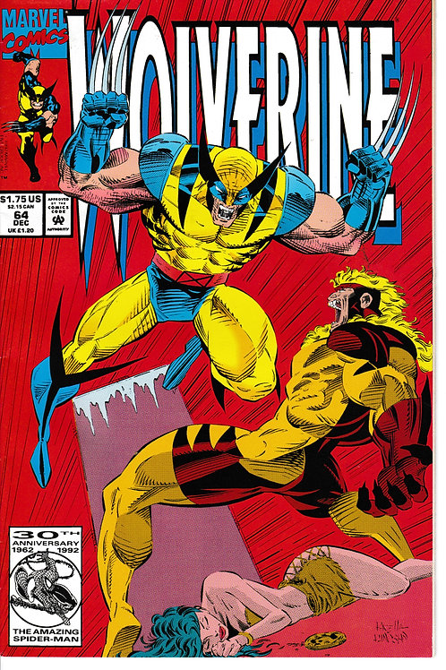 WOLVERINE 64 Dec 92 New Old Stock Guest-stars Jubilee & Maverick X-Men