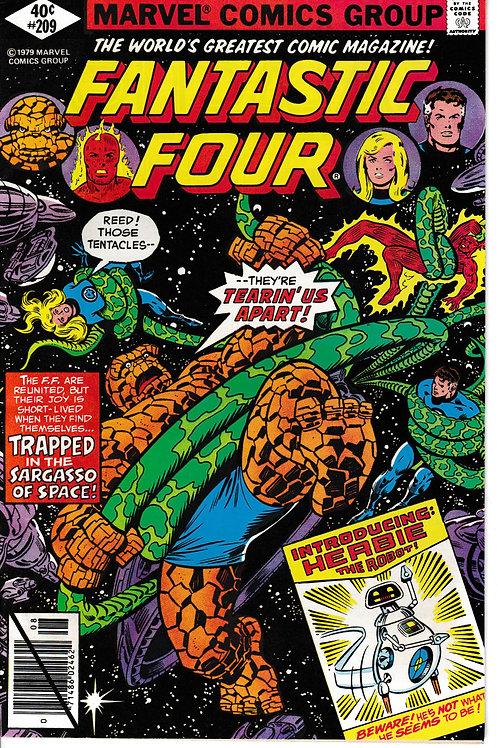 FANTASTIC FOUR 209 Aug 79 1st John Byrne 1st Herbie the Robot