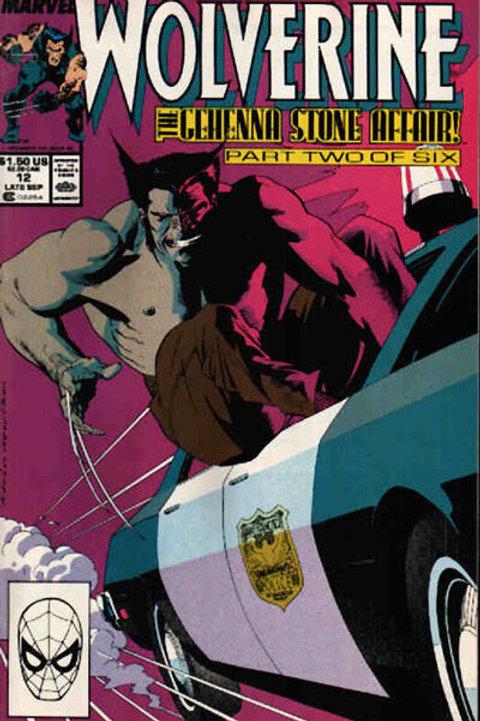 WOLVERINE 12 Vol 2 Marvel Sep 89 N/M- Peter David & Bill Sienkiewicz