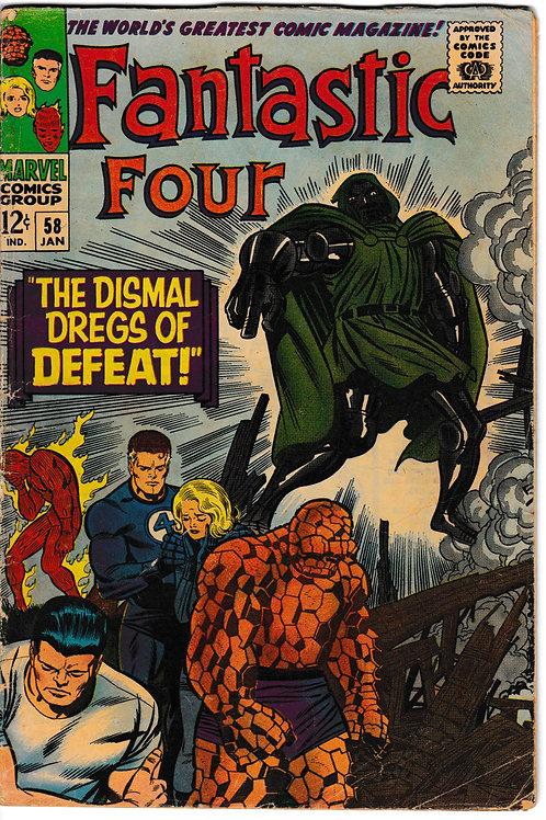 FANTASTIC FOUR 58 Jan 67 Marvel Vol 1 GD Silver Surfer