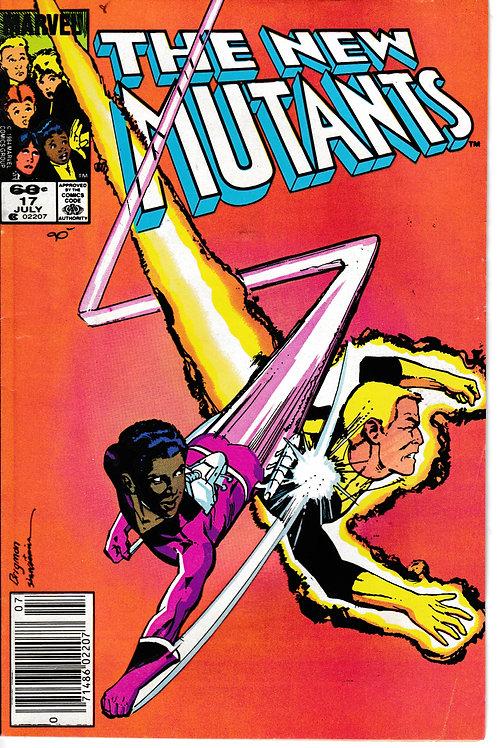 NEW MUTANTS 17 Marvel Jul 84 Inks Bill Sienkiewicz Getaway